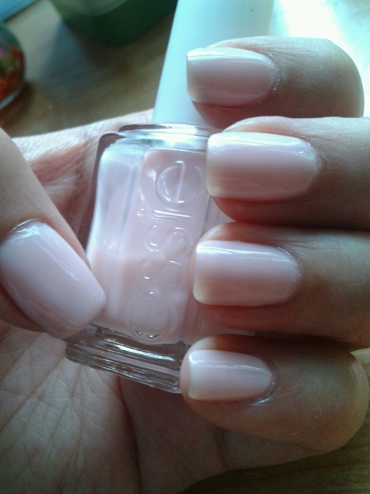 Essie in Rock Candy. 4 coats. Although this polish is quite sheer it's the perfect french manicure pink. A perfect subtle light pink nail.
