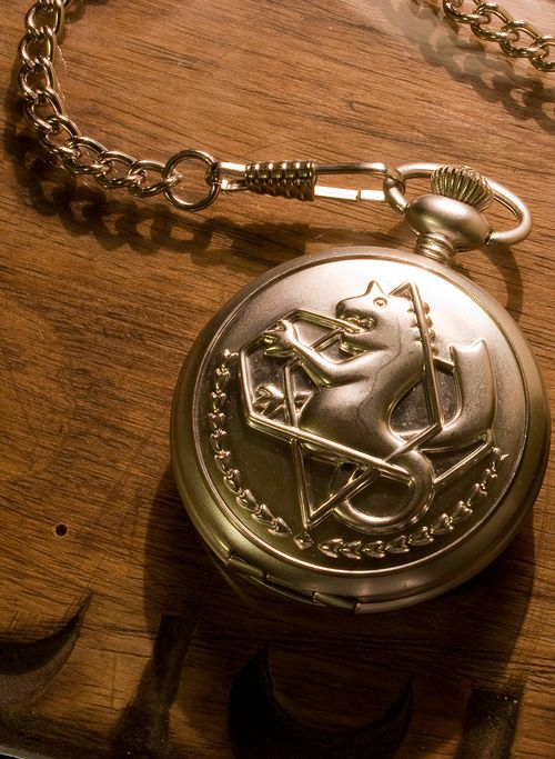 Silver pocket watch. The proof of being a state alchemist.