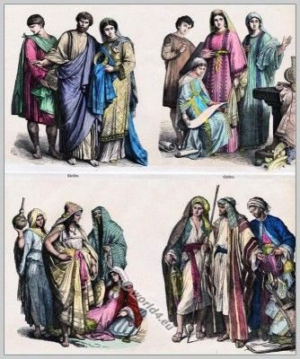 Christian and Arab clothes 4th to 6th Century.