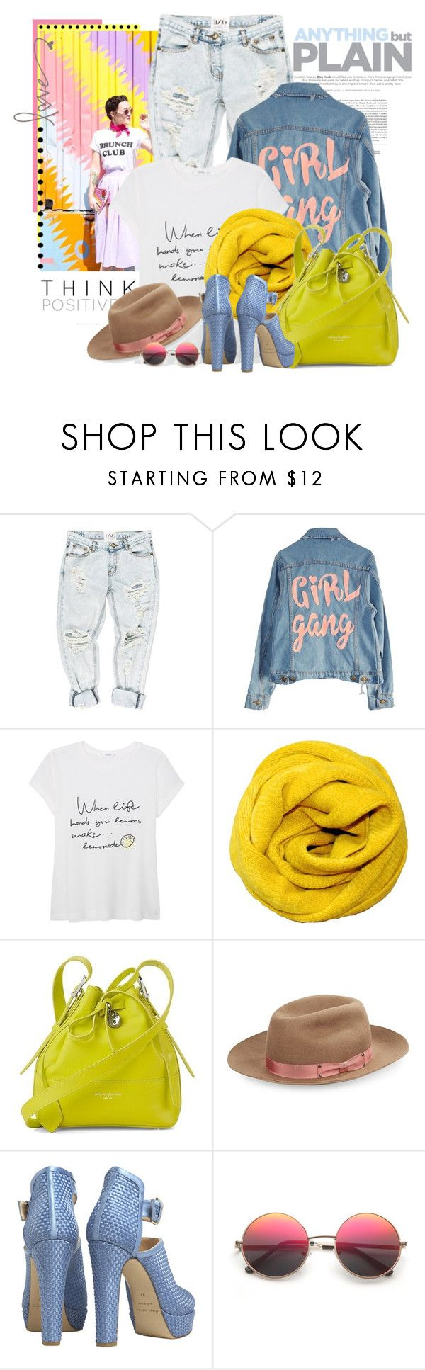 """""""Sem título #2550"""" by bellerodrigues ❤ liked on Polyvore featuring Oui, OneTeaspoon, High Heels Suicide, MANGO, Aspinal of London, Genie by Eugenia Kim and Bionda Castana"""