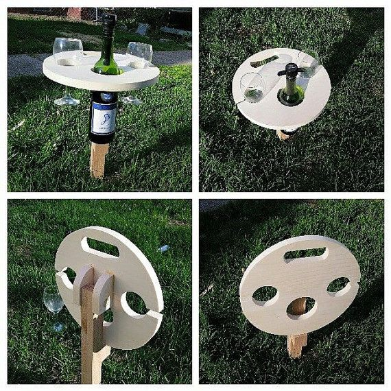 Wine Picnic Table Wine Table Picnic Wine RackWine4th of by Ntoys Wine #picnic #weddings #4thofjuly