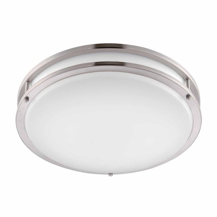 Low Profile LED 16 Inch Flush Mount Ceiling Brushed Nickel