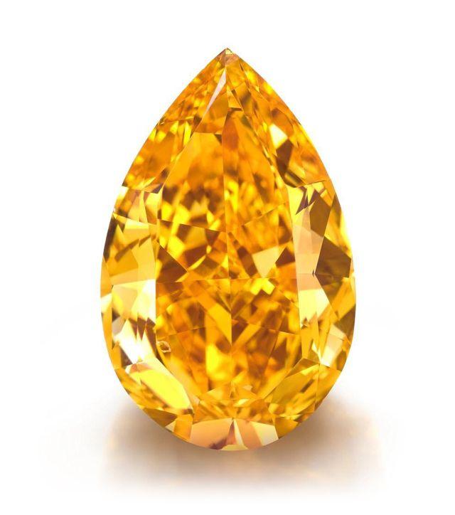 14.82-carat fancy vivid orange diamond •