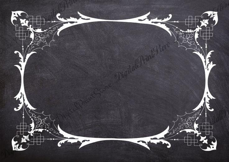 Clip Art Chalkboard Frame Victorian Border 007 Retro Ornate Frame Commercial Use by DigitalPrintStore on Etsy