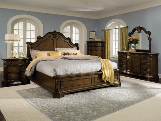 Monticello Pecan Bedroom Package   Value City Furniture