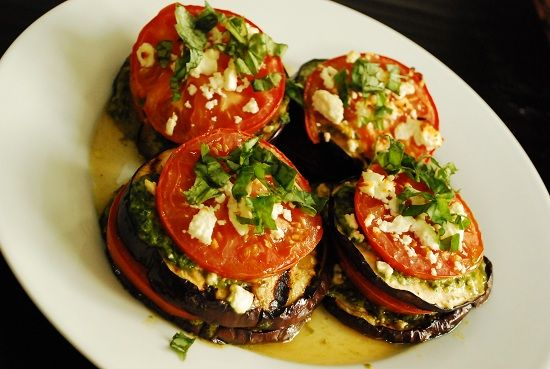 Grilled Eggplant with Tomatoes and Feta – 3 Points + - LaaLoosh