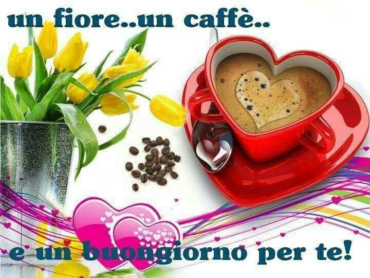 Un fiore, un caffè, e un buongiorno per te!