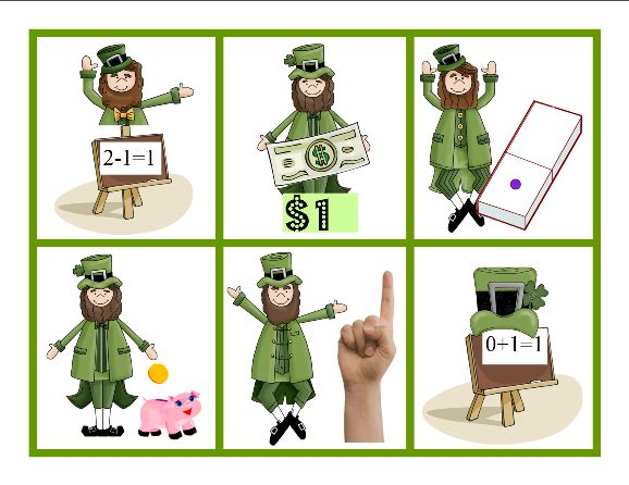 March Match, Number Names Game by Carolyn from Wise Owl Factory at PreK + K Sharing