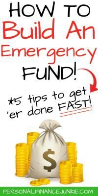 Want to know how to build an emergency fund fast? Read to discover 5 tips plus a cool bonus on unique ways you can start your emergency fund savings account. #emergencysavings #emergencyfund #personalfinancejunkie