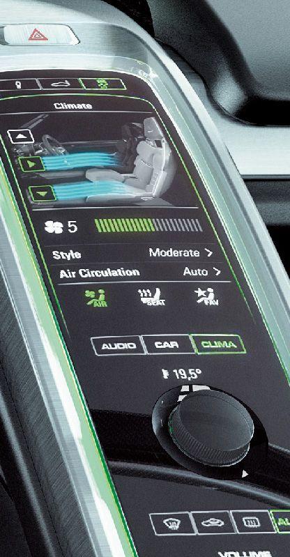 Porsche 918 Spyder touchscreen climate control powered by QNX Car platform