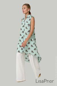 Платье рубашка в зебрах