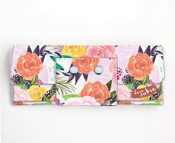 Check out this item in my Etsy shop https://www.etsy.com/ca/listing/512173902/vinyl-long-wallet-joyful-spring1-floral
