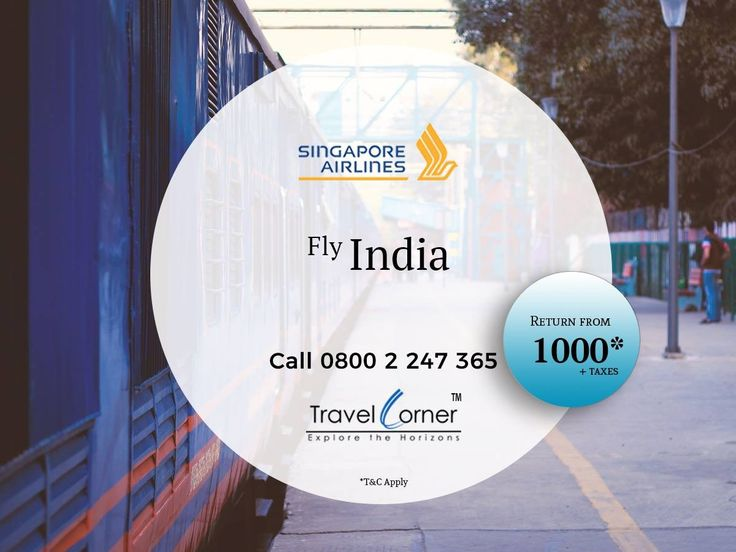 Last Chance! Fly India with Singapore Airlines Hurry up! Limited Seats only. Call Now 0800 2 247 365 or Travel Dates: 16 Jan 18 to 30 Jun 18 #TravelCorner #SingaporeAirlines #FlyIndia Terms and Conditions Apply