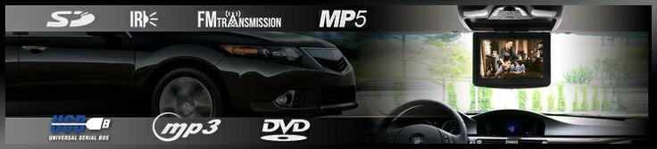Roof Mount DVD Player, Car Entertainment System   Elinz