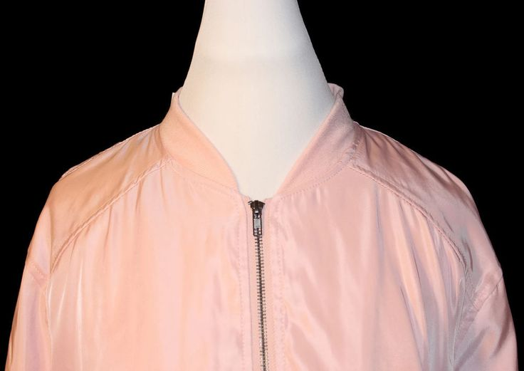 NWT Justify Women's Plus Size Zipper-front Pink Lightweight Bomber Jacket Sz 3x #Justify #Bomber