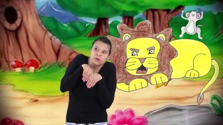 Aprendiendo Lengua de Señas Mexicana,Cuento Infantil: El león y el ratón