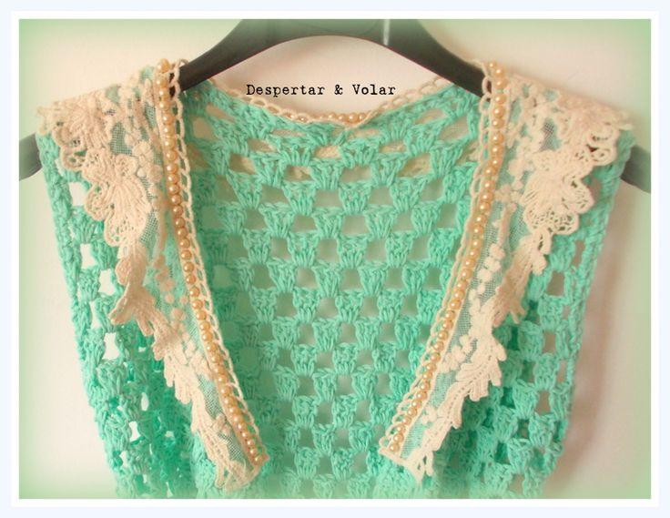 crochet, bordado en perlas, broderie