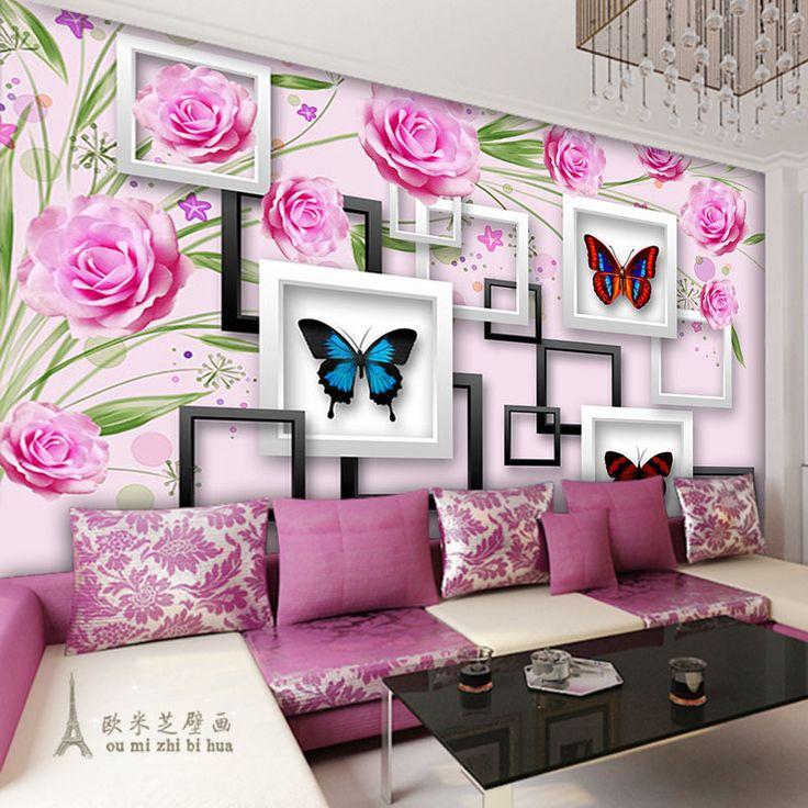 Ucuz Modern minimalist 3D stereoskopik gül duvar kağıdı yatak odası oturma odası TV duvar kanepe arka plan duvar kağıdı duvar resimleri, Satın Kalite duvar kağıtları doğrudan Çin Tedarikçilerden: New simple modern fashion personality street rose romantic personality Plum TV backdrop wallpaper bedroom muralUSD 30.00