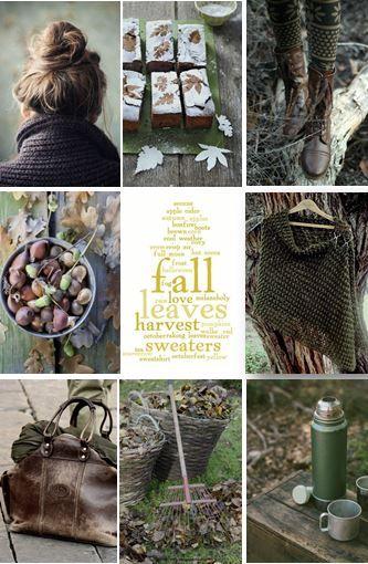 moodboard - green / brown fall