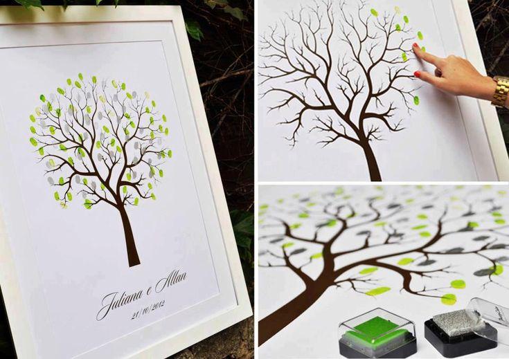 fingerprint tree as a wedding souvenir... have each guest add their print when checking in!