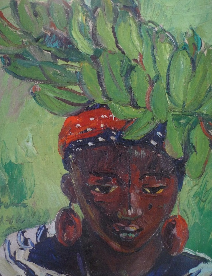 'Banana carrier, Lake Kivu', 1946, oil painting by Irma Stern (South African, 1894-1966)
