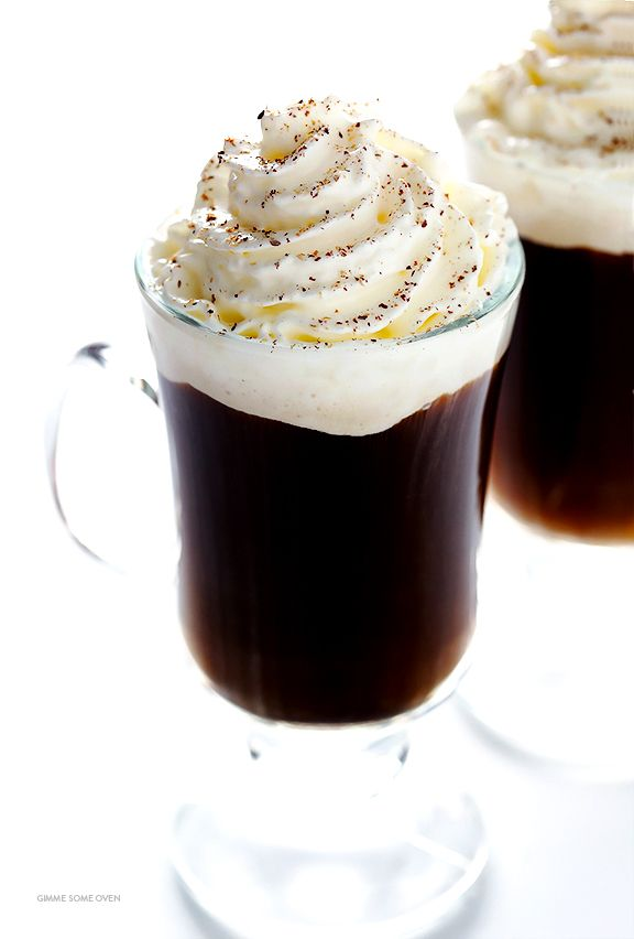 All you need are 3 easy ingredients to make a delicious cup of warm Irish Coffee. Step-by-step instructions are included! | gimmesomeoven.com