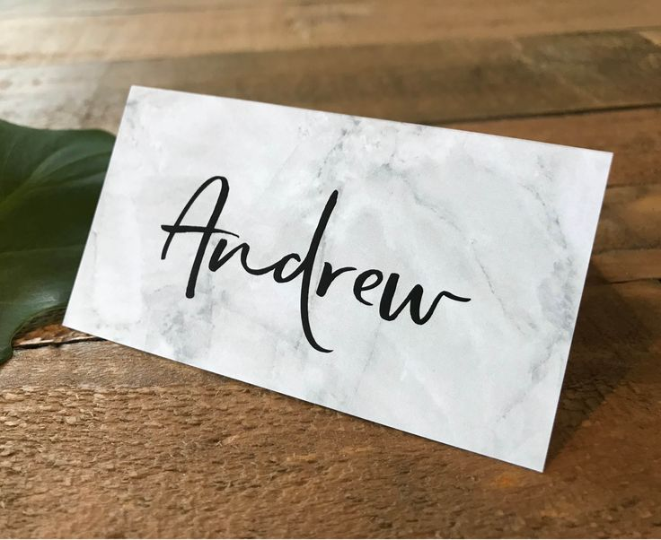 A gorgeous set of digital or printed grey and white marble place cards | tent cards | escort cards with a script font. Marble colour can be changed if required.