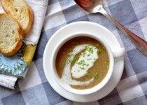 Zupa krem z pieczarek i suszonych grzybów