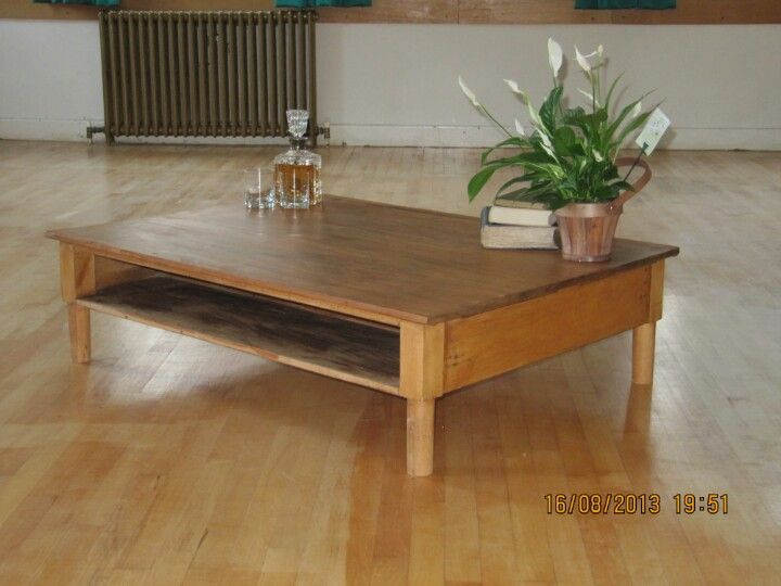 Vintage 1954 Teacher's desk coverted to Coffee table