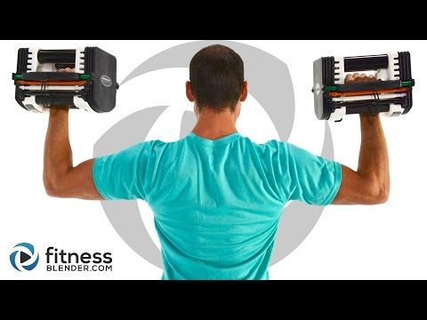 All Strength Upper Body Workout: Upper Body Muscle Buiding Workout | FitnessBlender, 20 minutes, two 10-pound dumbbells