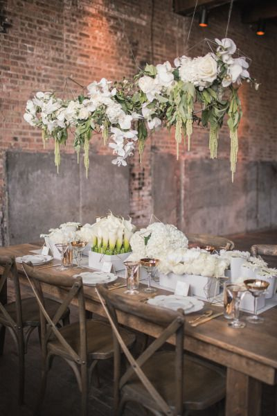 Loft wedding: http://www.stylemepretty.com/2015/03/25/modern-geometric-wedding-inspiration/   Photography: MGB - http://www.malloryberry.com/