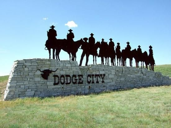 DODGE CITY ... I believe the tallest people per capita in the nation..