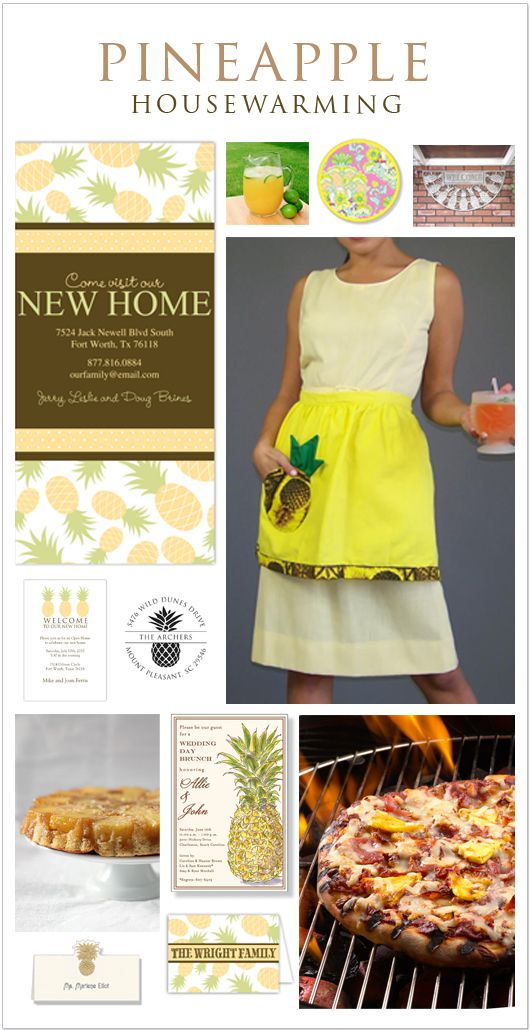 Theme Party Thursday: Pineapple #Housewarming Party | Polka Dot Design #Blog