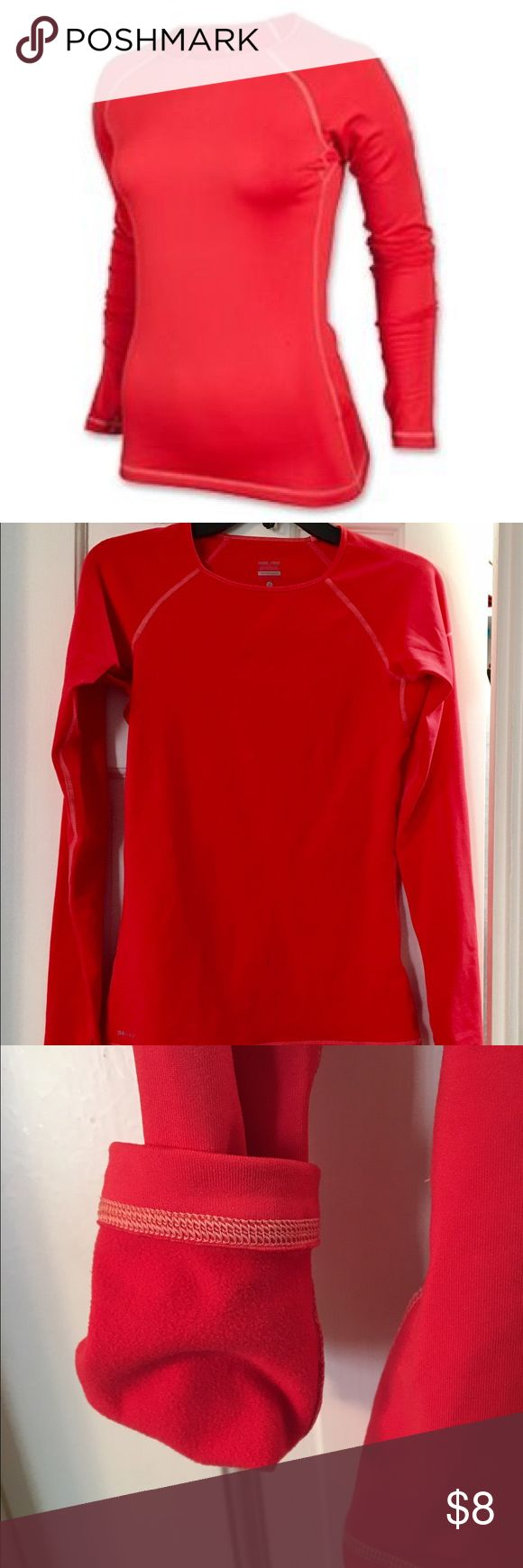 Nike Pro dri fit red long sleeve top size Small Nike Pro Dri fit insulated bright red long sleeve top size Small Nike Tops Tees - Long Sleeve