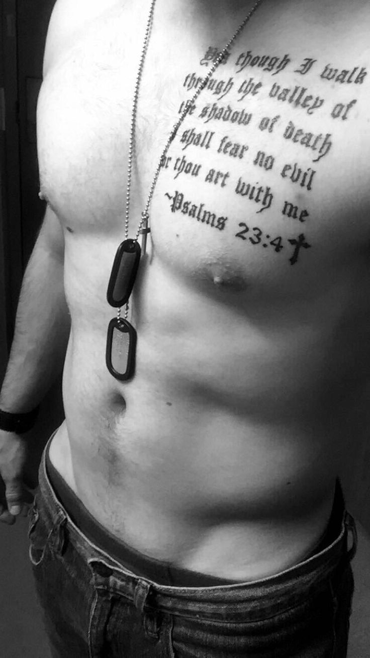 #Military #Tattoos #Dogtags #guys #male #model #hot #blackandwhite #Psalms