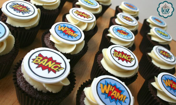 Fun superhero chocolate cupcakes went out yesterday for a birthday party. Hope the guests enjoyed them! Thanks again to Just Lift, Peel & Munch: edible prints and cake toppers. for the edible toppers. They look fab (in my opinion ☺️)