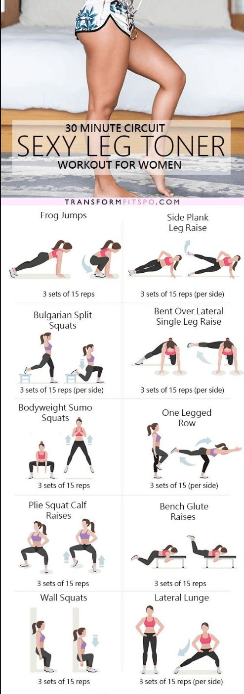 The ultimate sexy leg toner lower body circuit workout – Ever Well Women http://amzn.to/2rwu7B1