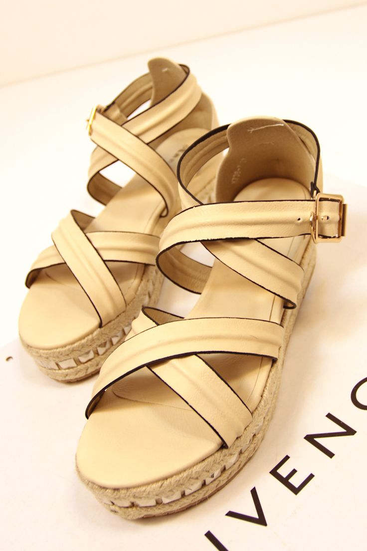 shoes - http://zzkko.com/n173560-013-summer-new-Korean-version-of-simple-straw-soled-platform-shoes-rivets-slope-with-Roman-sandals-Espadrille.html $18.00