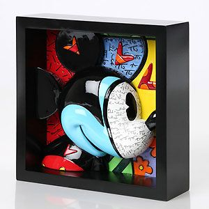 Mickey Mouse - Mickey Mouse Pop Art Block - Love Struck - Britto - Romero Britto - World-Wide-Art.com - $65.00