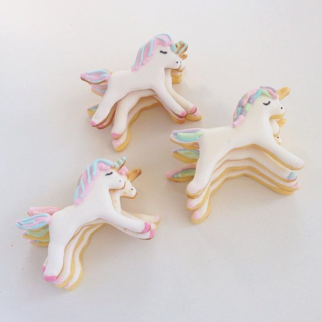 unicorn cookies by little cookie co.