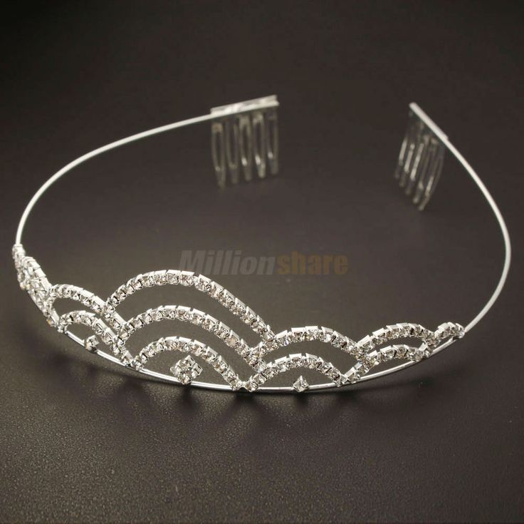 New Wedding Bridal Gorgeous Noblest Wave Style Crown Headband  #65 Silver #Crown