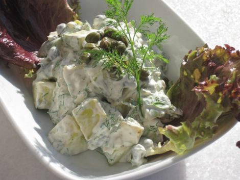 Falsk Potatissallad på Zucchini #lchf