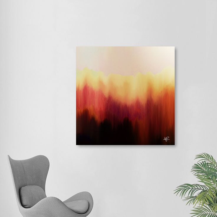«Forest Fire», Exclusive Edition Aluminum Print by Okti W. - From $59 - Curioos