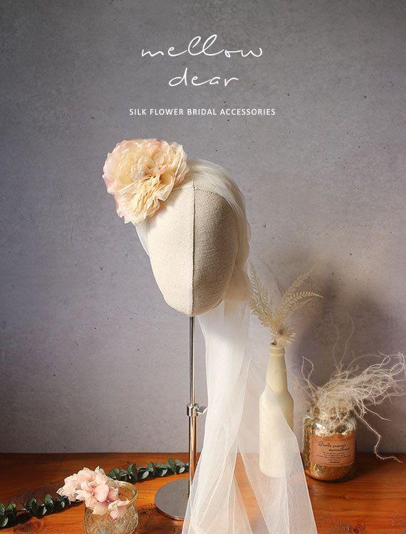 Lovely English rose Handmade silk flower bridal hair by mellowdear on Etsy