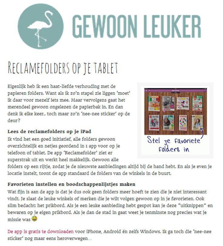 Bekijk het hele artikel op: http://www.gewoonleuker.nl/reclamefolders-op-je-tablet/