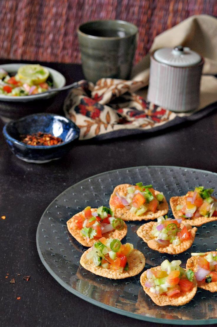 : Masala Papad: Healthy Mini Bite size Snacks