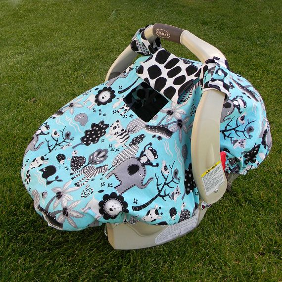Fitted Car Seat Canopy with Peek-a-Boo Window PDF PATTERN/TUTORIAL. $7.00, via Etsy.