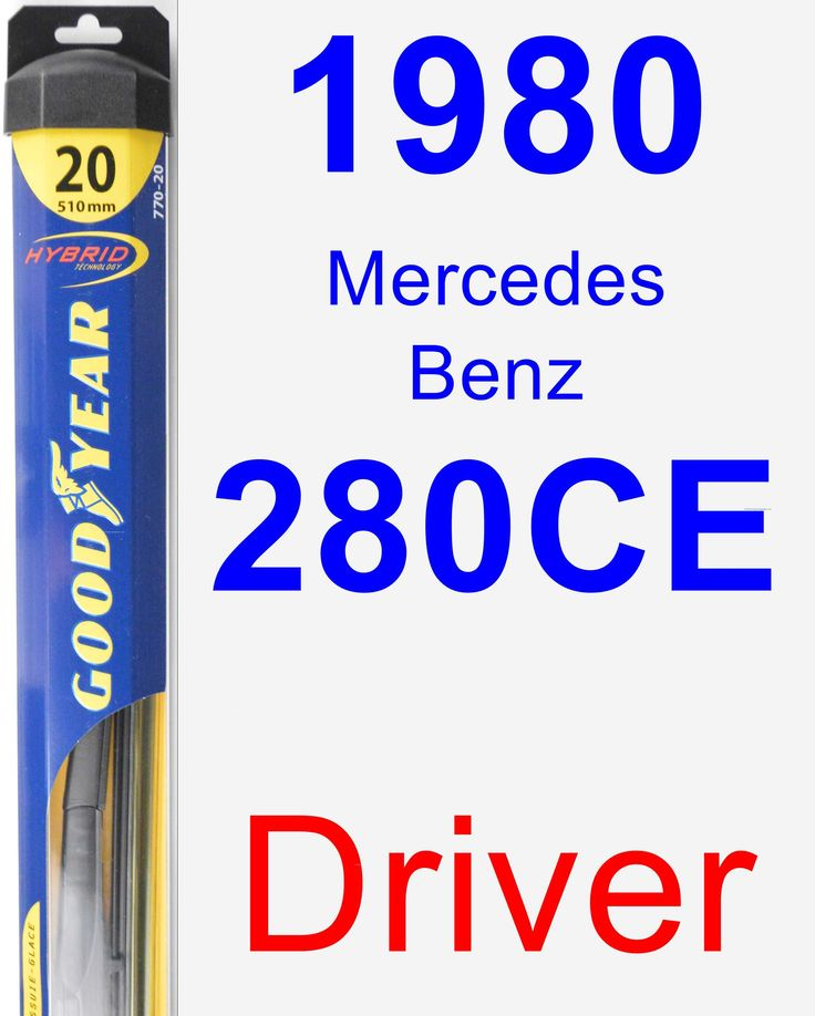 Driver Wiper Blade For 1980 Mercedes-Benz 280CE