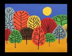 Fall collage - step by step craft for kids