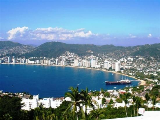 Acapulco Bay, Mexico...went here for spring break a looooong time ago!! Interesting place, dont drink the water!